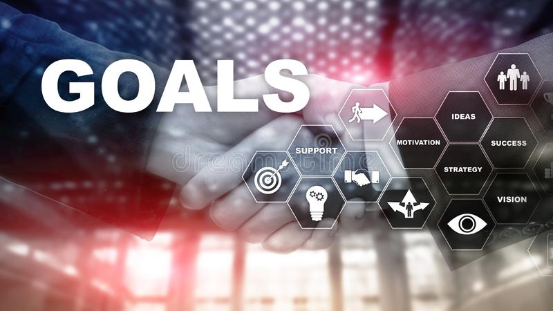 Target Goals Expectations Achievement Graphic Concept. Business development to success and growing growth.  stock photos