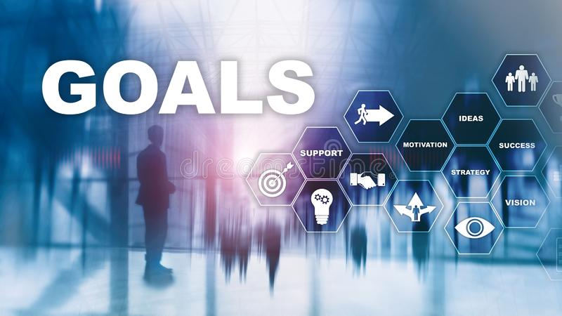 Target Goals Expectations Achievement Graphic Concept. Business development to success and growing growth. Target Goals Expectations Achievement Graphic Concept stock photos
