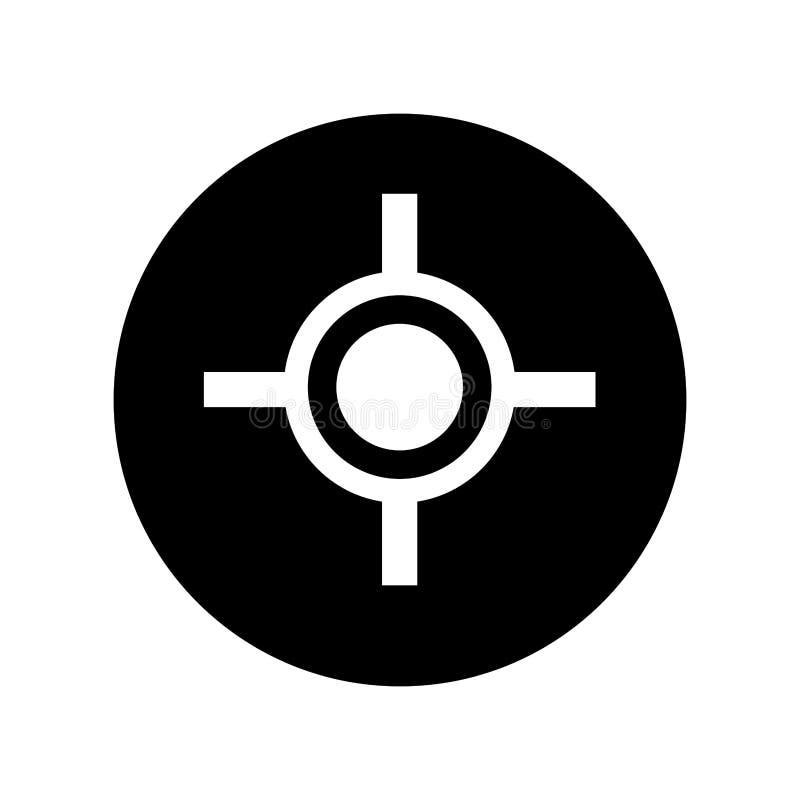 target gun isolated icon vector illustration