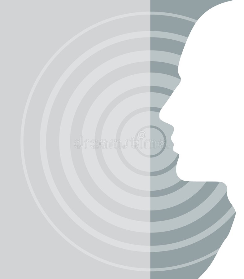 Target Head Silhouette 2 royalty free illustration