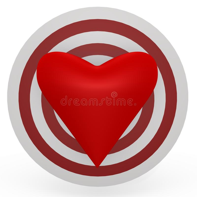 Download The Target Is The Heart! A 3d Image Stock Illustration - Illustration: 12728228