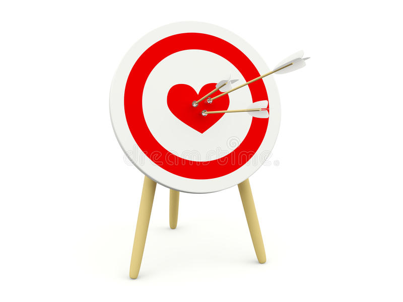 Download Target With Heart And Arrows Stock Illustration - Image: 17967249