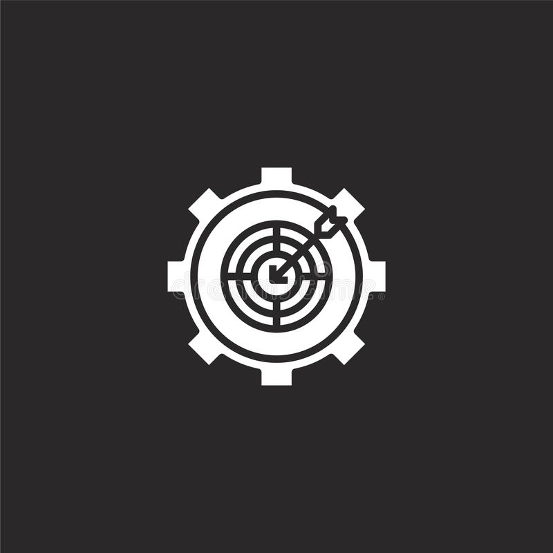 target icon. Filled target icon for website design and mobile, app development. target icon from filled engineering collection royalty free illustration
