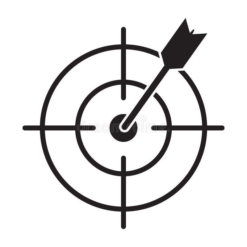 Target Icon marketing target graphic design single icon vector illustration. Vector illustration isolated on white background royalty free illustration