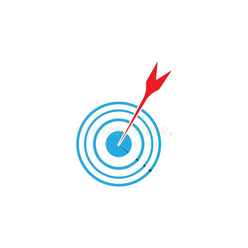 Target icon and symbol vector ilustration template. Target icon vector ilustration template, design, flat, dartboard, business, targeting, aim, idea, isolated vector illustration