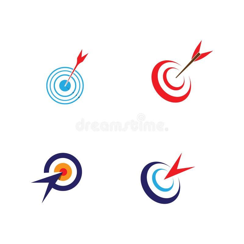 Target icon and symbol vector ilustration template. Target icon vector ilustration template, design, flat, dartboard, business, targeting, aim, idea, isolated stock illustration