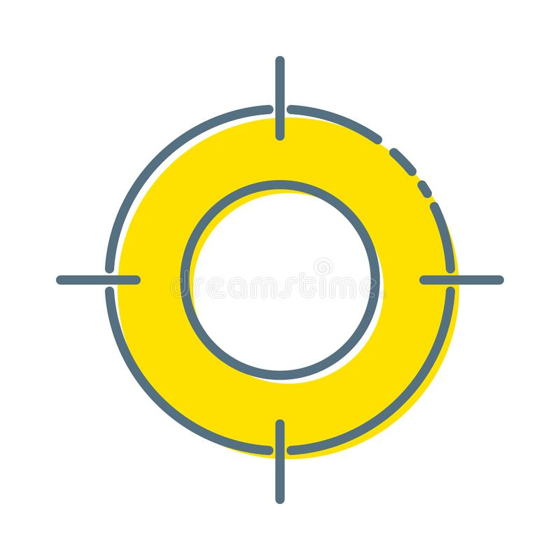 Target Icon in trendy flat style isolated on white background. Aim symbol for your web site design, logo, app, UI vector illustration