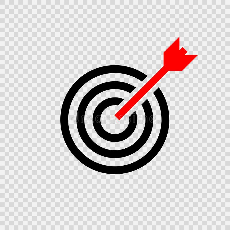 Target icon . Vector royalty free illustration