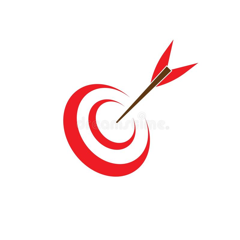 Target icon and symbol vector ilustration template. Target icon vector ilustration template, design, flat, dartboard, business, targeting, aim, idea, isolated royalty free illustration