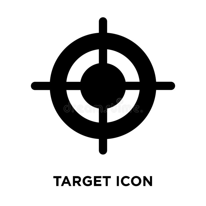 Target icon vector isolated on white background, logo concept of stock illustration