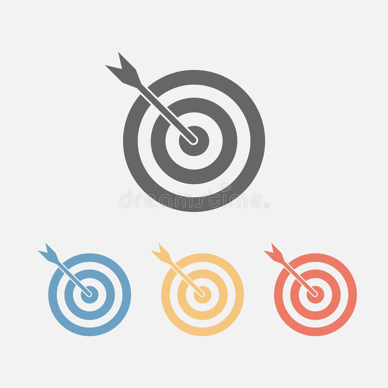 Target icon royalty free stock photos