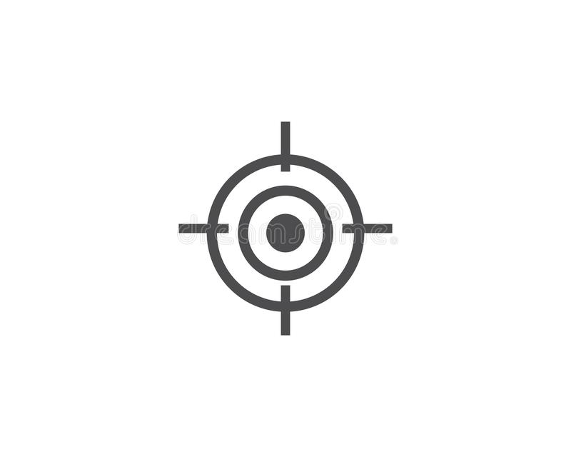 Target icon vector. Ilustration template stock illustration