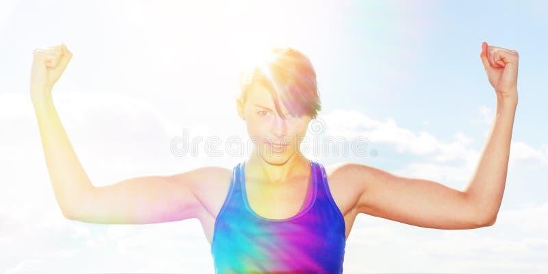 target212_0_ jej mięśni kobiety potomstwa zdjęcia stock