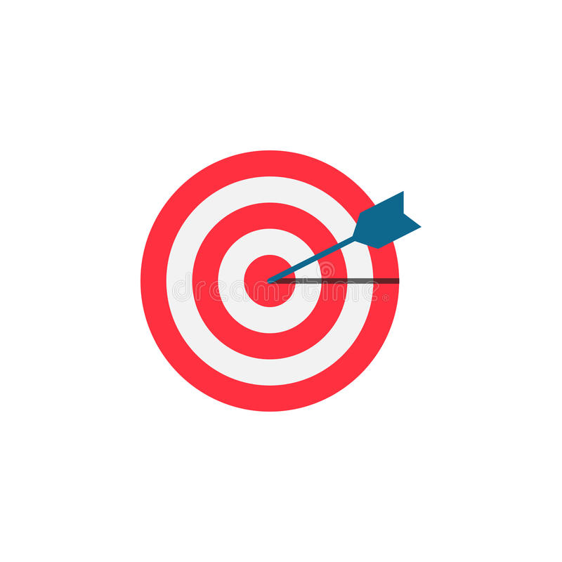 Target keyword flat icon. Seo and development, Darts sign, a colorful solid pattern on a white background, eps 10 vector illustration