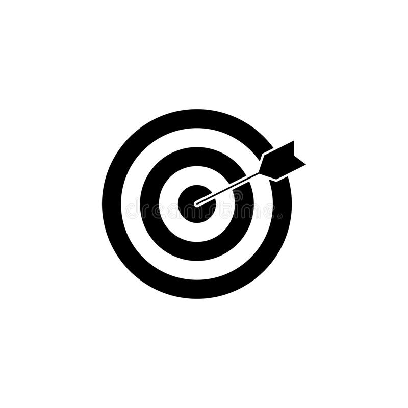 Target keyword solid icon. Seo and development, Darts sign, a filled pattern on a white background, eps 10 vector illustration
