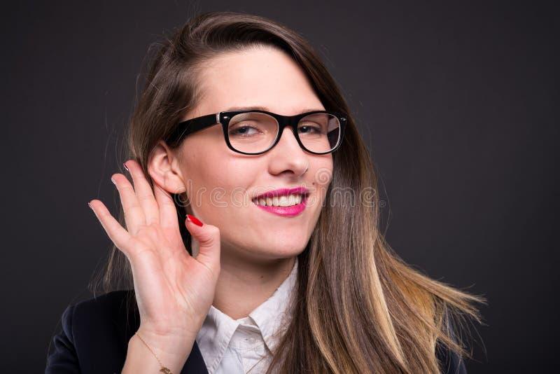 target3216_1_ kobieta biznesowa uszata ręka obrazy royalty free