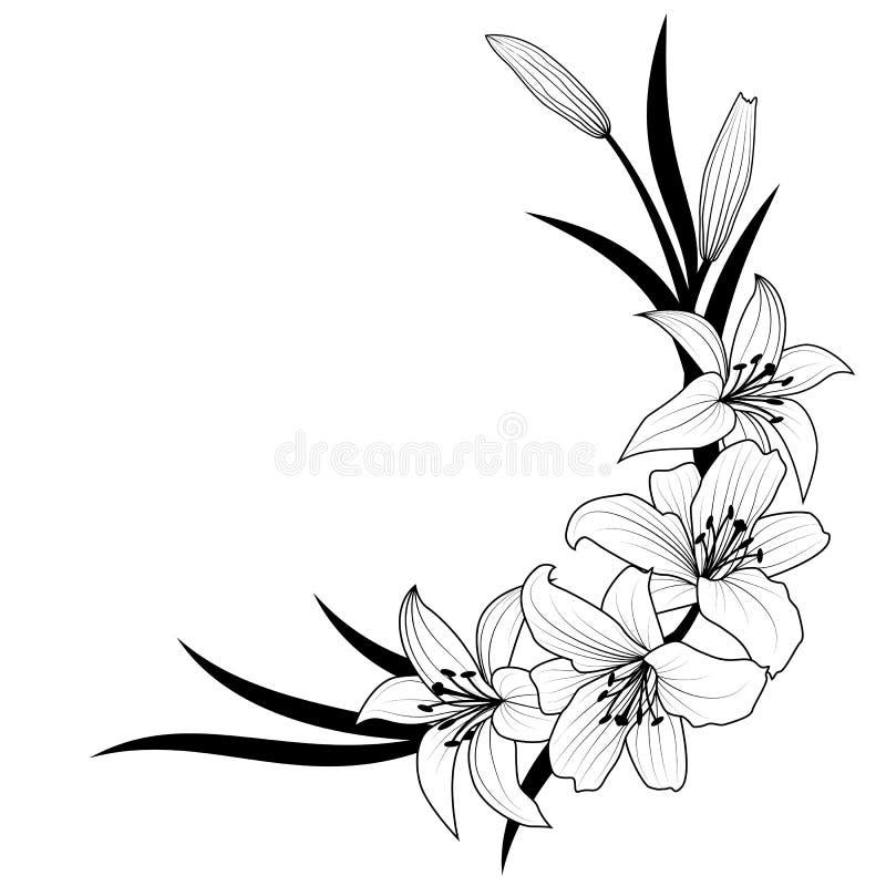 target548_1_ kwiatu odosobniony lelui ścieżki biel ilustracji