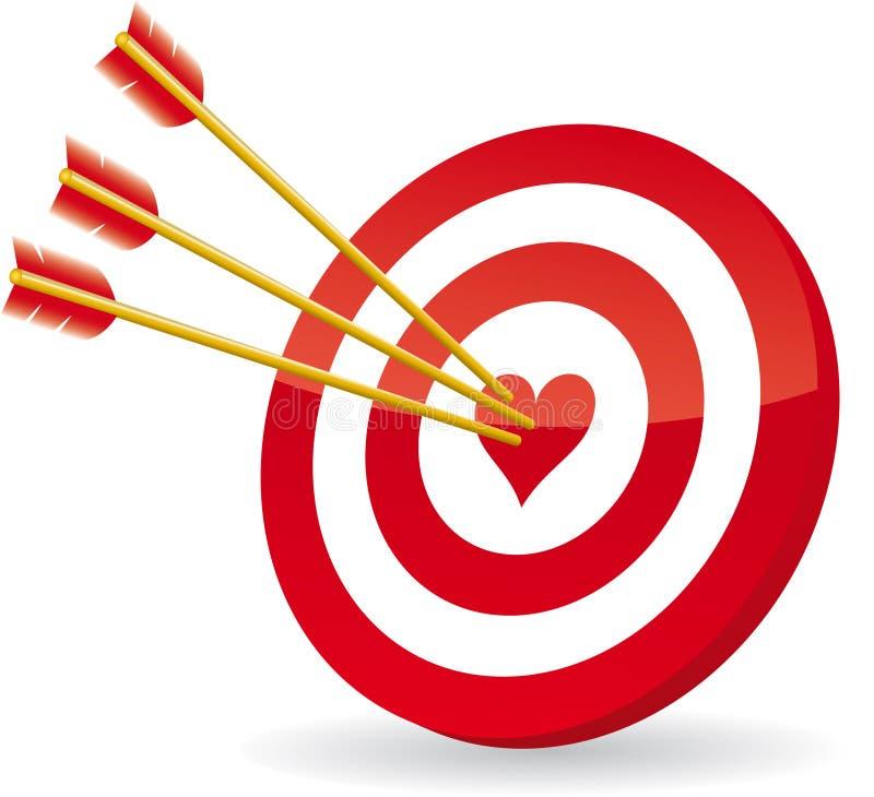 Target love vector illustration