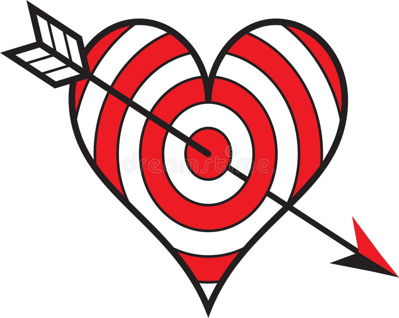 Download Target love stock vector. Illustration of color, center - 29459539