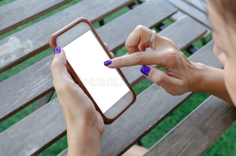 target87_1_ mądrze telefon kobiety fotografia stock