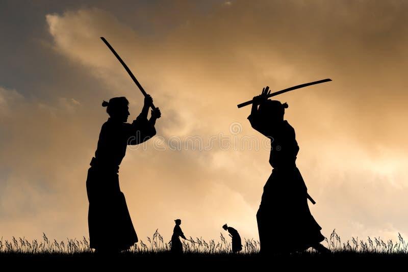 target1319_1_ m??czyzna samuraj?w kordzika obrazy stock
