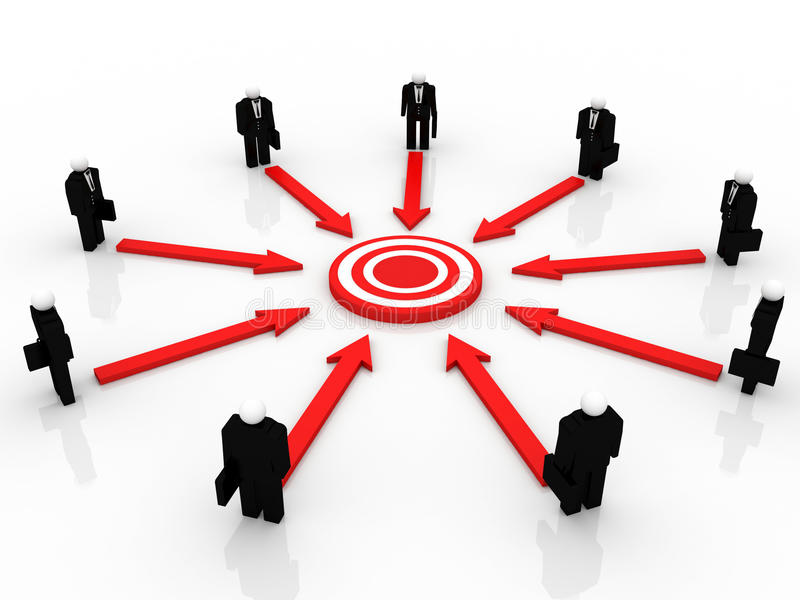 Target Marketing stock illustration