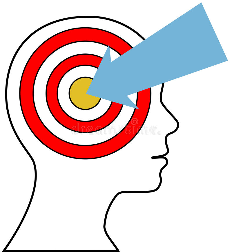 Target Marketing person arrow customer royalty free illustration