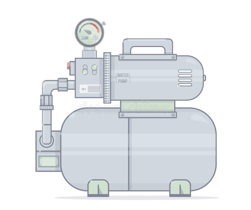 target1732_1_ odosobniony ścieżki pompować wodę biel Ilustracyjna pompuje stacja Dla online sklepu instalacja wodnokanalizacyjna royalty ilustracja