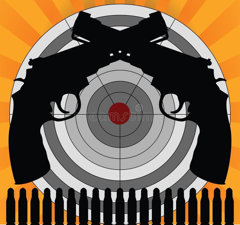 Download Target and pistols stock vector. Image of crime, concept - 15811901