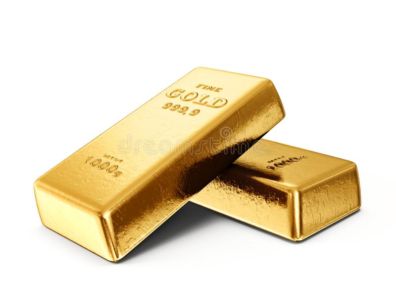 target2073_1_ prętowy złocisty złoty ingot ilustracji