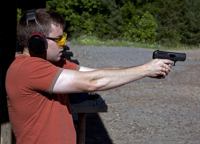 Download Target Practice stock image. Image of sport, firearm - 25187267