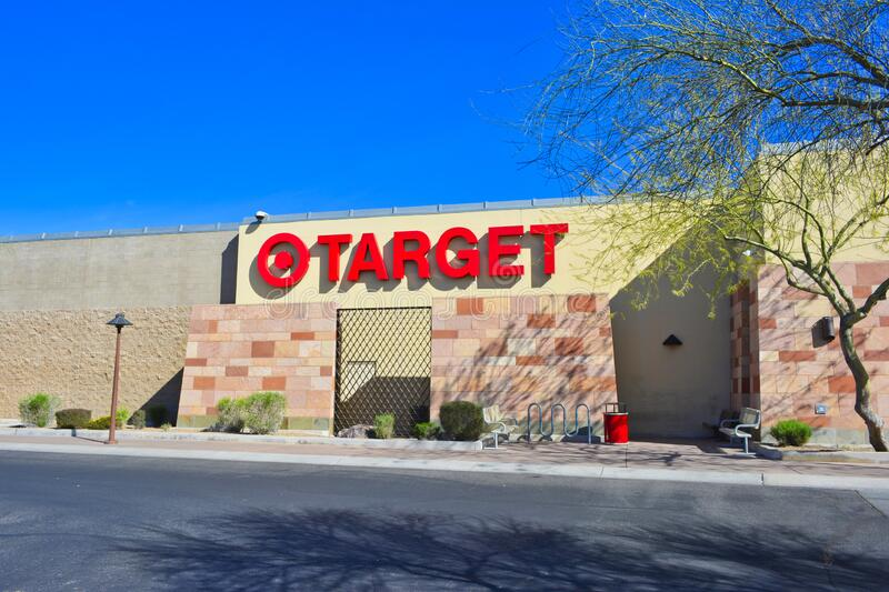 Target retail super store exterior signage - February 12, 2014 royalty free stock photo