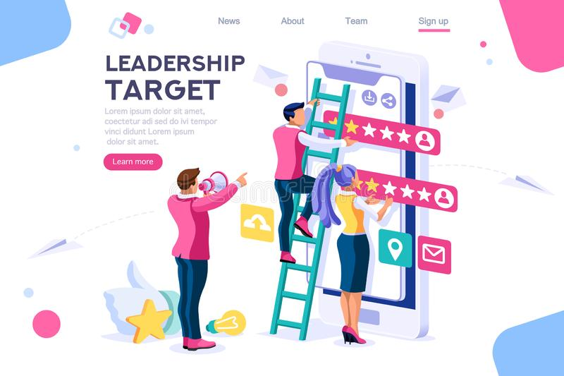 Target Score User Feedback App vector illustration