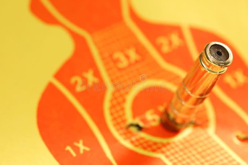 Target shooting range paper scene. royalty free stock photos