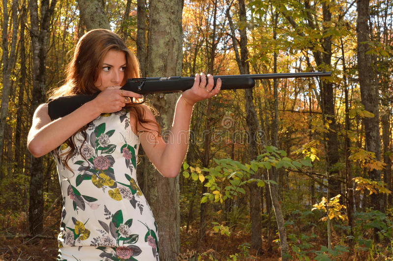 Target shooting. royalty free stock photography