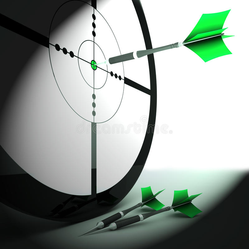 Download Target Shows Triumph Skill And Strategy Stock Illustration - Image: 32075644
