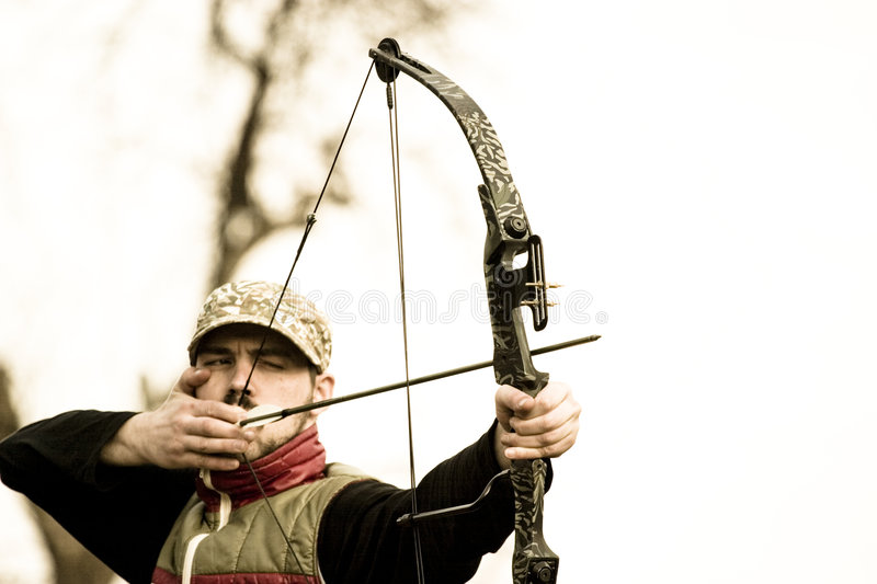 target in sight stock photo