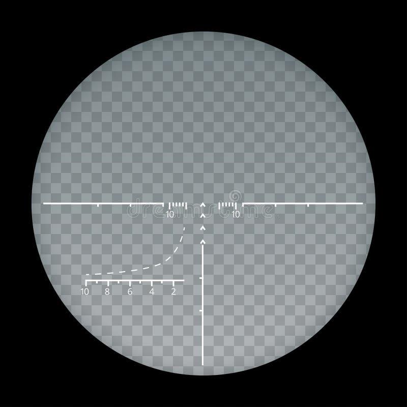 Target sight sniper symbol on a transparent background, crosshair and aim vector illustration stylish for web. Design stock illustration