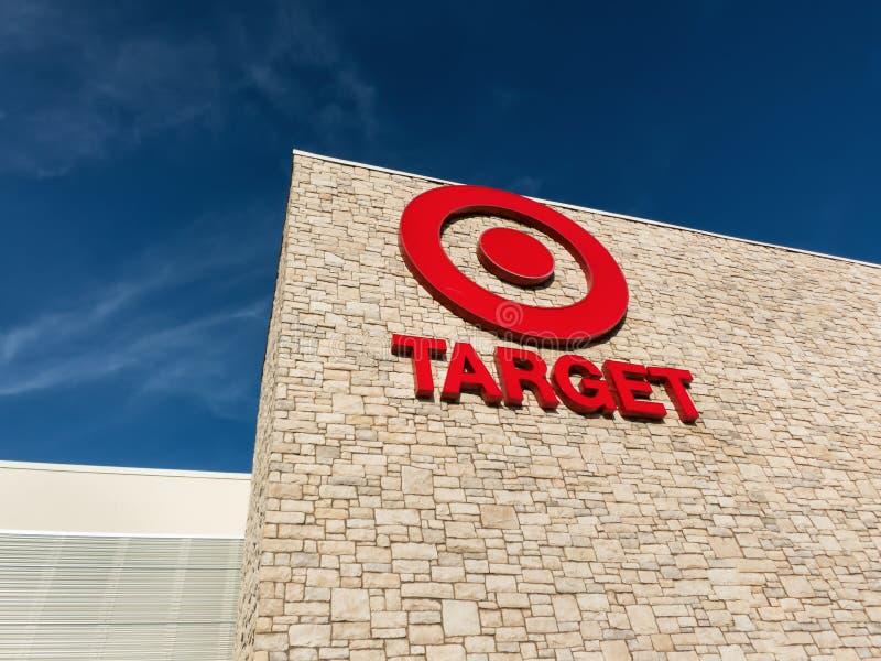 Target Store Exterior. MARINA, CA/USA - DECEMBER 30, 2013: Exterior view of a Target retail store. Target Corporation is an American retailing company stock photos