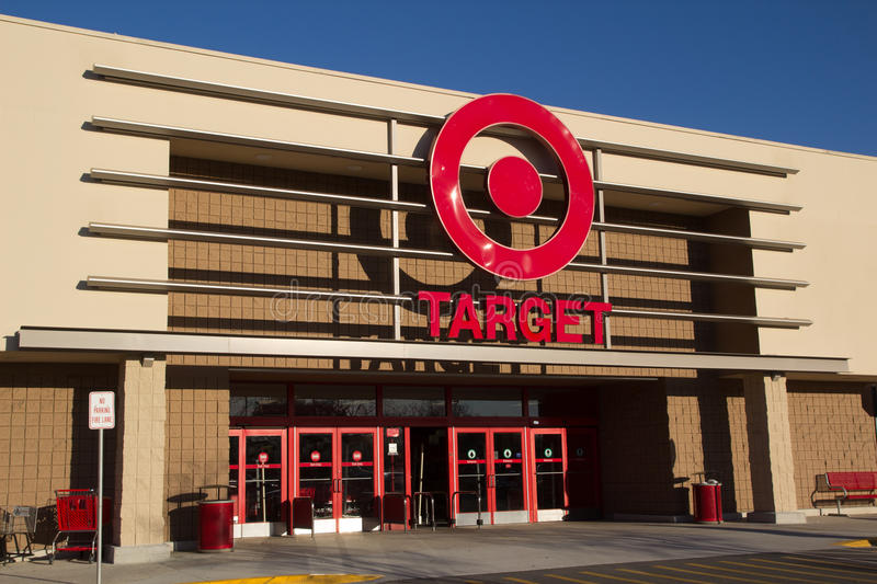Target Store Front. JACKSONVILLE, FL-FEBRUARY 18, 2014: A Target retail store in Jacksonville. Target Corporation is the second-largest discount retailer in the royalty free stock photography