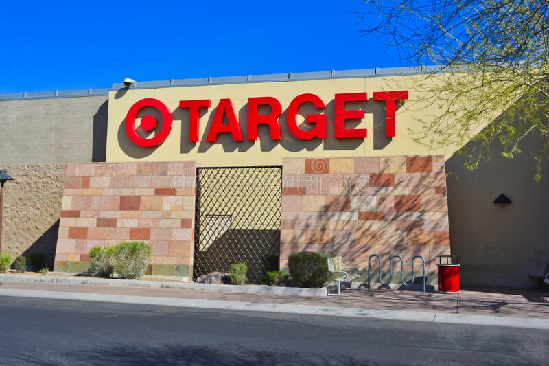Target store sign on outside of building in Scottsdale, Arizona, United States of America stock photography
