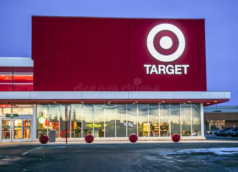 Target store in Sunridge Mall, Calgary Alberta. royalty free stock photos