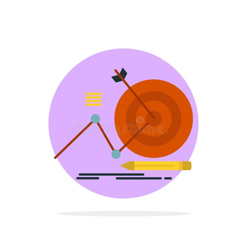Target, Success, Goal, Focus Abstract Circle Background Flat color Icon stock illustration