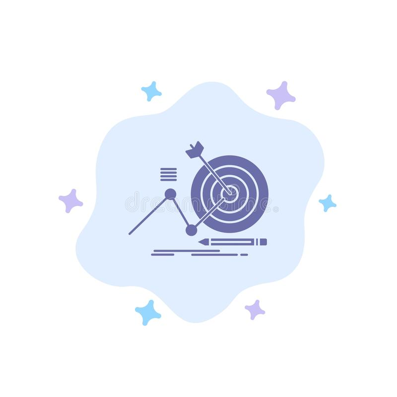 Target, Success, Goal, Focus Blue Icon on Abstract Cloud Background vector illustration