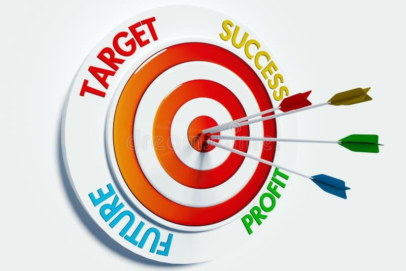 Target success profit future royalty free illustration