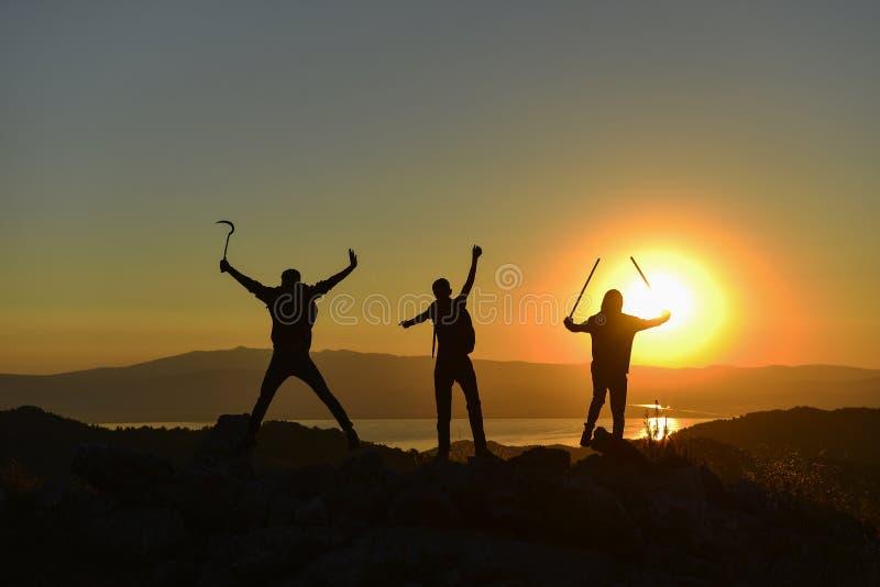 Target Successful & hardworking & team spirit royalty free stock photo