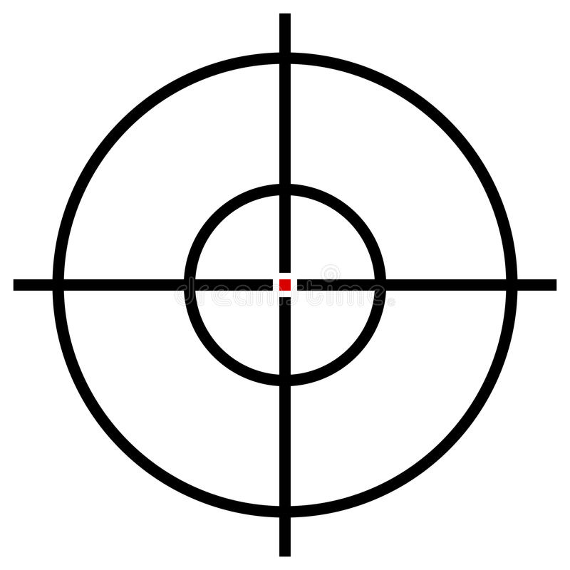 Target Symbol Isolated On White Accuracy Target Aiming Concep