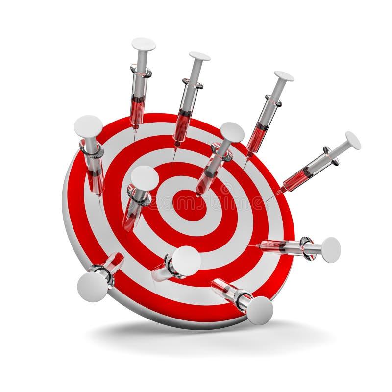 Download Target syringes stock illustration. Image of board, disease - 36146688