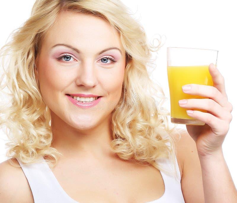 target2612_0_ szczęśliwa soku pomarańcze kobieta zdjęcie stock