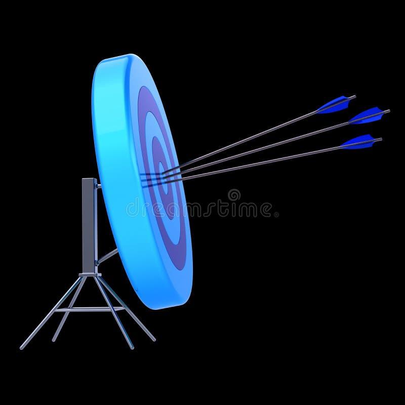 Target three arrows success shooting blue lucky concept vector illustration